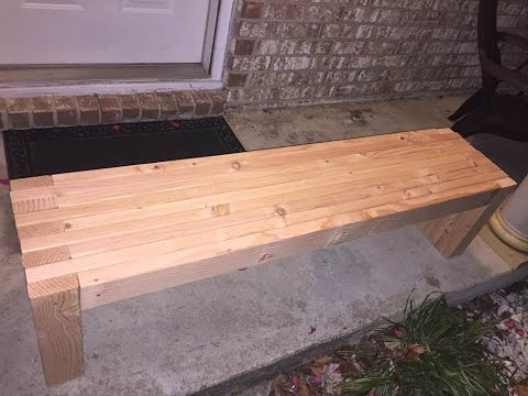 How To Make Simple A 2X4 Bench Seat #Woodworking #DIY
