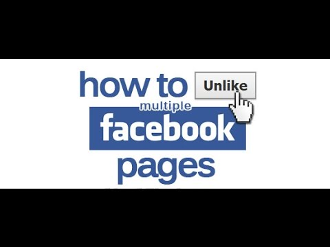 How to unlike all facebook pages at once 2014