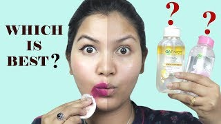 Which one is best?Garnier Micellar Cleansing Water or oil infused cleansing water