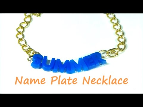 Resin Name Plate Necklace | By Craft Happy Summer
