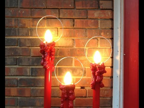 Halos for Electric Outdoor Candles