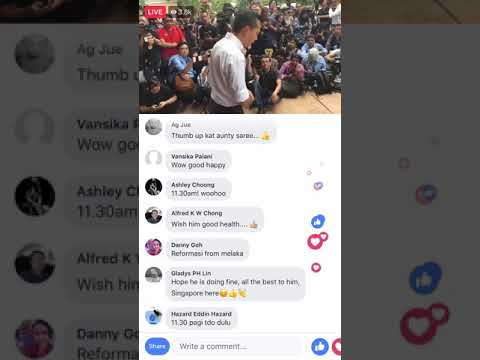 Anwar to be released Facebook live footage from outside hospital