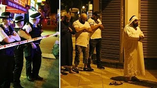 Van strikes pedestrians near London Mosque