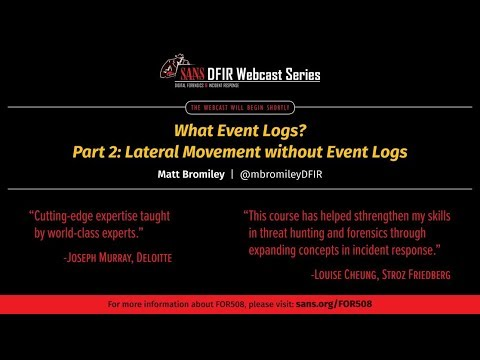 What Event Logs  Part 2  Lateral Movement without Event Logs