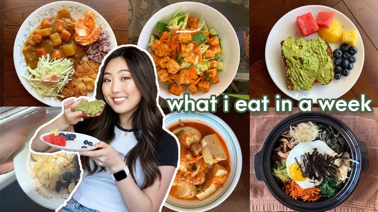 what i eat in a week (healthy, balanced, + korean food)