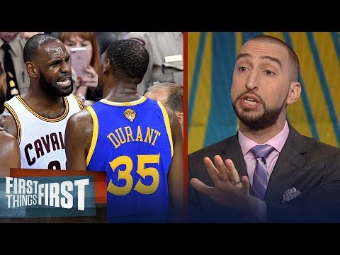 Nick Wright on what LeBron's Cavs must do to compete with Warriors | NBA | FIRST THINGS FIRST