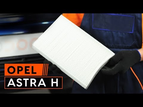 How to replace pollen filter on OPEL ASTRA H TUTORIAL | AUTODOC