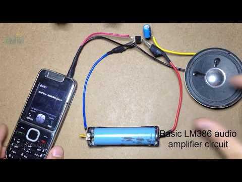 LM386 Basic audio Amplifier Circuit