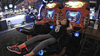 The Fast And The Furious Super Bikes Arcade Video Game Played At Dave & Buster's Arcade