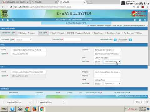 KARNATAKA E WAY BILL SYSTEM
