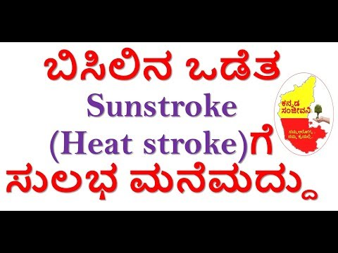 Best home remedies for Sunstroke in Kannada | Heat stroke kannada | Kannada Sanjeevani