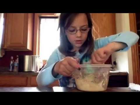 How to make flubber with flour and cornstarch and water