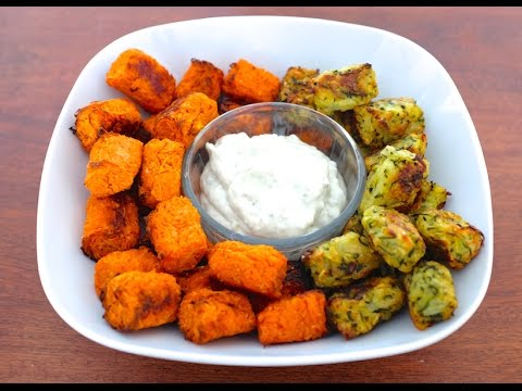 Easy Baked Sweet Potato and Zucchini Tots(Plant-Based)