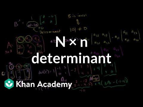 n x n determinant | Matrix transformations | Linear Algebra | Khan Academy