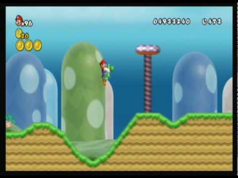 New Super Mario Bros. Wii custom level - Green Hill Zone