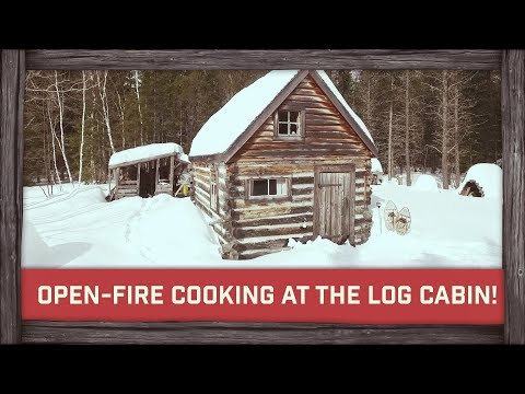 Open-Fire Cooking on the Snow at The Log Cabin & Party !