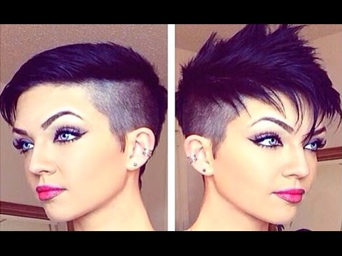 How to style a pixie cut and fauxhawk