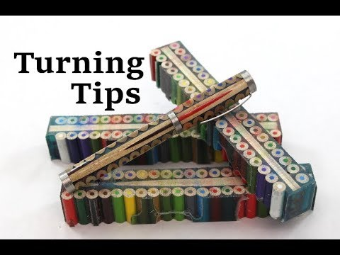 Tips for turning Colored Pencil Resin Cast Pen blanks (How I do it)