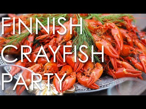 This is a Finnish Crayfish Party