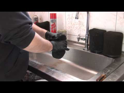 Foam air filter cleaning and oiling.wmv