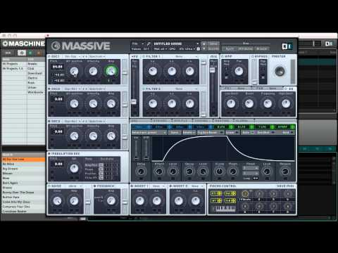 Kick drum synthesis with NI Massive
