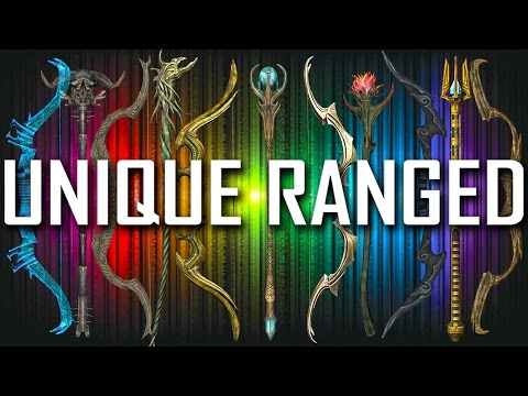 Skyrim - All Unique Bows & Staves