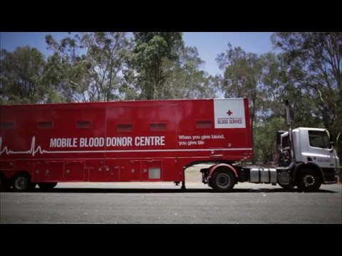 Red Cross Mobile Blood Donor Unit