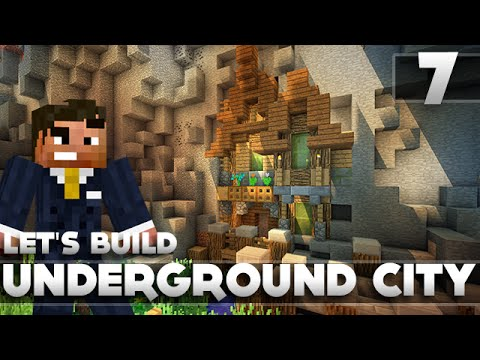 Minecraft - Advanced Underground Base/City Tutorial Let's Build Part 7 Xbox 360/PC/PS3