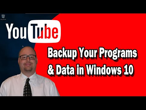 How to Backup Your Programs and Data in Windows 10