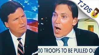 Tucker Carlson Dismantles Pro-War Stooge
