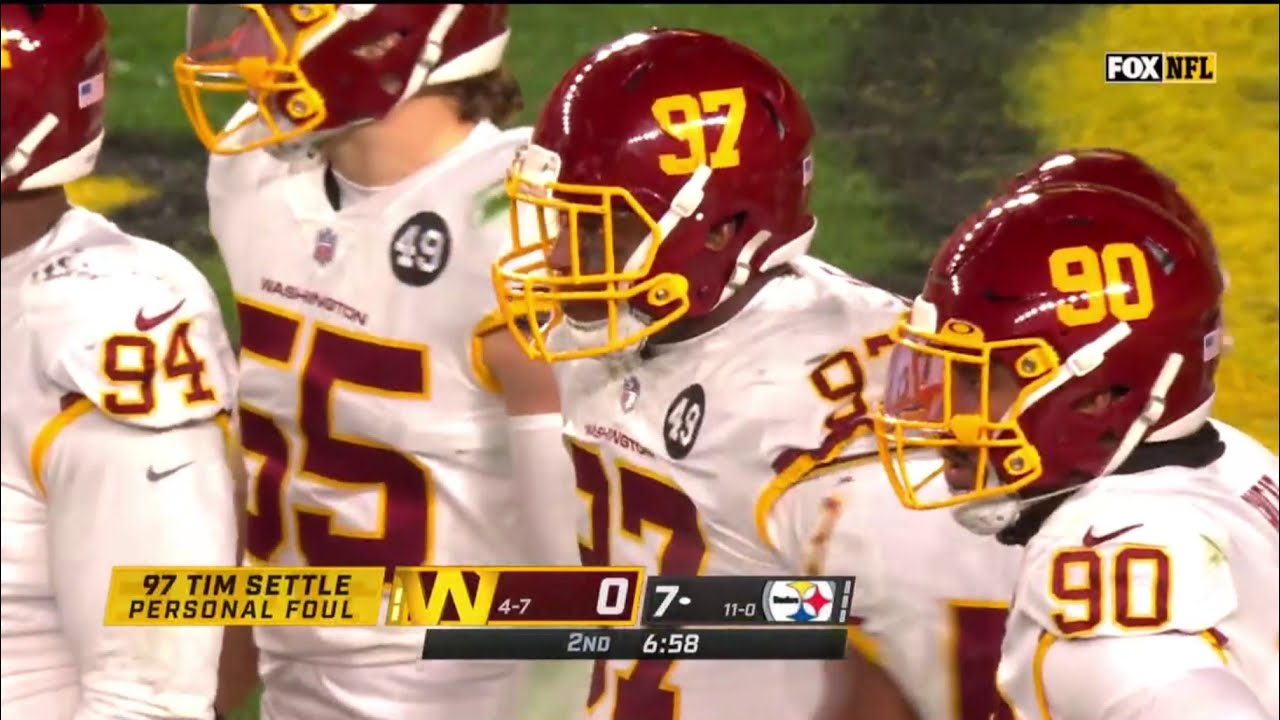 Washington Football Teams amazing 6 play Goal Line Stand, on the way to beating the 11-0 Steelers