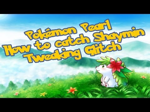Pokemon Diamond/Pearl (TAS) Catch Shaymin with 2. Badges [Tweaking Glitch]