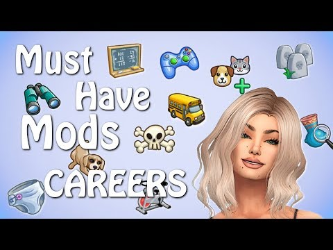 👩⚕️💼The Sims 4: MUST HAVE MODS // OVER 25 NEW CAREERS!! 👩⚕️💼