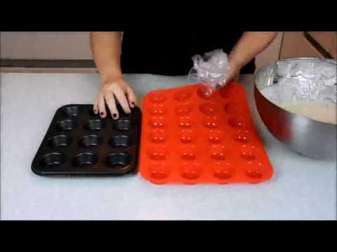 Laminas Silicone Mini Muffin Pan 24-Cup Complete Review Premium Mini Cupcakes Pan Shapes Non stick
