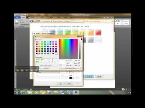 Change Background Color Windows 7.mp4