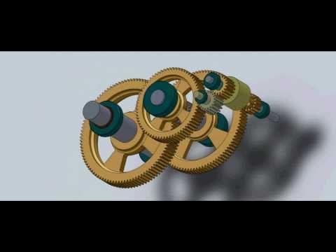 SolidWorks Animation - Gearbox Design #1