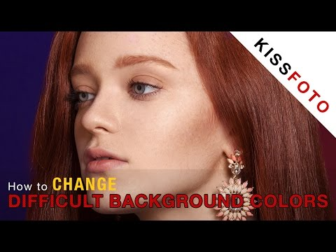 Photoshop - How to Change Difficult Background Colors