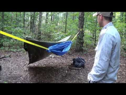 DIY Improvised Hammock Made Out Of Tarps-  Eric TBP