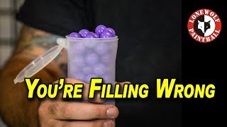 How To Fill A Paint Pod Correctly | Lone Wolf Paintball Michigan