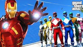 POWER RANGERS VS IRONMAN - GTA 5 Power Rangers Mod
