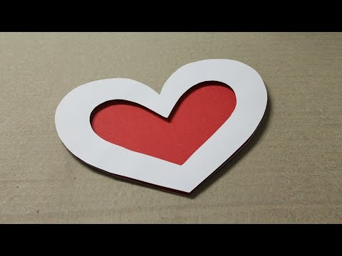 How to make romantic cards at home - Easy Handmade Love Cards