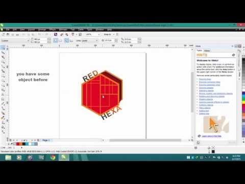 Fast & simple make transparent background with CorelDraw X6 Tutorial 2015