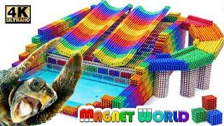 DIY - HowTo Build Swimming Pool Water Slide Around Underground (Satisfying ASMR)| Magnet World #215