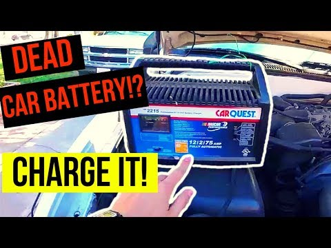 How To Correctly Charge a Dead Car Battery -Jonny DIY