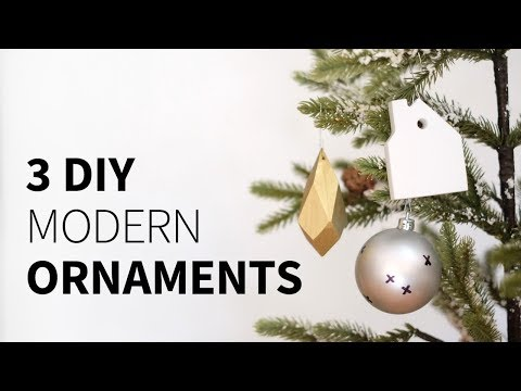 3 DIY ornaments 3 ways (wood, corian, and sharpie) | How to