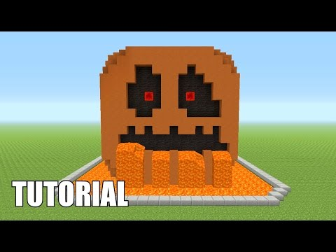 Minecraft Tutorial: How To Make A Pumpkin!! (Survival House)
