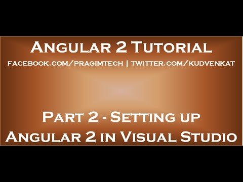 Setting up Angular 2 in Visual Studio