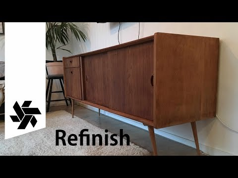 Refinishing a Mid Century Modern Credenza