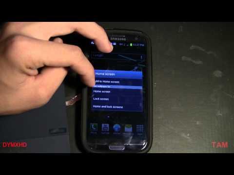 Samsung Galaxy S3 Tips Customize Homescreen/lockscreen