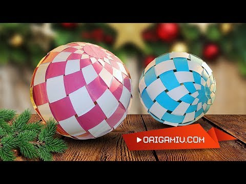 Christmas Ball of Paper - New Year's Ball Origami